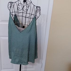 Silky lace bandeau cami free people M
